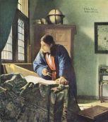 "Vermeer, ""Le géographe"", 1669"