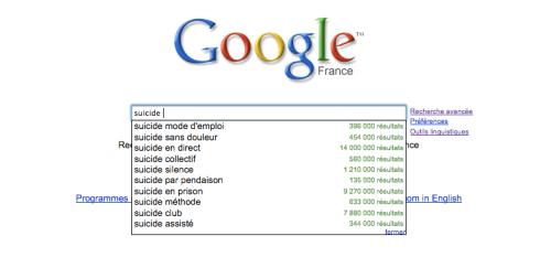 Google suicide